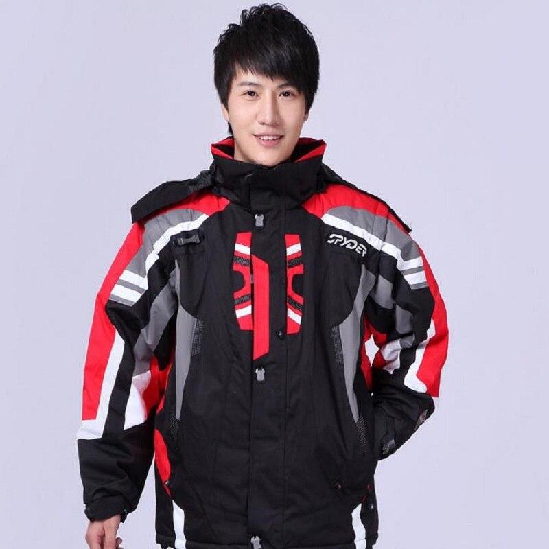 Vestes et pantalons de ski d'hiver sports de plein air combinaison de ski imperméable et coupe-vent pour hommes combinaison de ski double planche pour hommes - 2