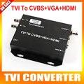 HD TVI to HDMI/VGA/CVBS Converter Adapter Encoder Adopts Coaxial Cable,Support 1080P/720P 25/30FPS HDMI+VGA+CVBS Output 750MA