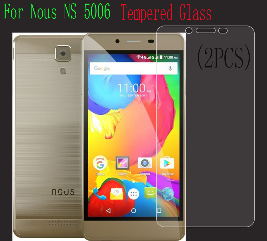 2PCS Ultra-thin High Quality Tempered Glass Film Explosion-proof Screen Protector For <font><b>Nous</b></font> NS 5006 protective case cover <font><b>ns5006</b></font> image