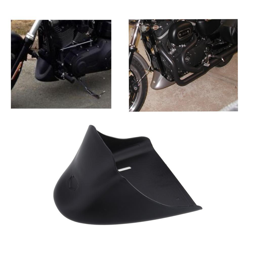 ФОТО Matte Black  Motorcycle Lower Fairing Front belly pan Spoiler For Harley Davidson Sportster 883 XL1200 2004-2014 Models
