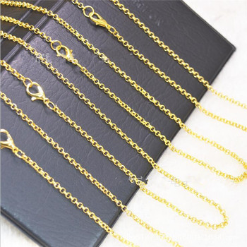 licliz 2019 new 925 sterling silver water drop pendant necklaces for women 18k gold white gold link chains jewelry kolye ln0435 10pcs/lot 2mm Gold/Silver Color Necklace Chains Bulk for Men Women Chain Necklaces Pendant DIY Jewelry Making Z517