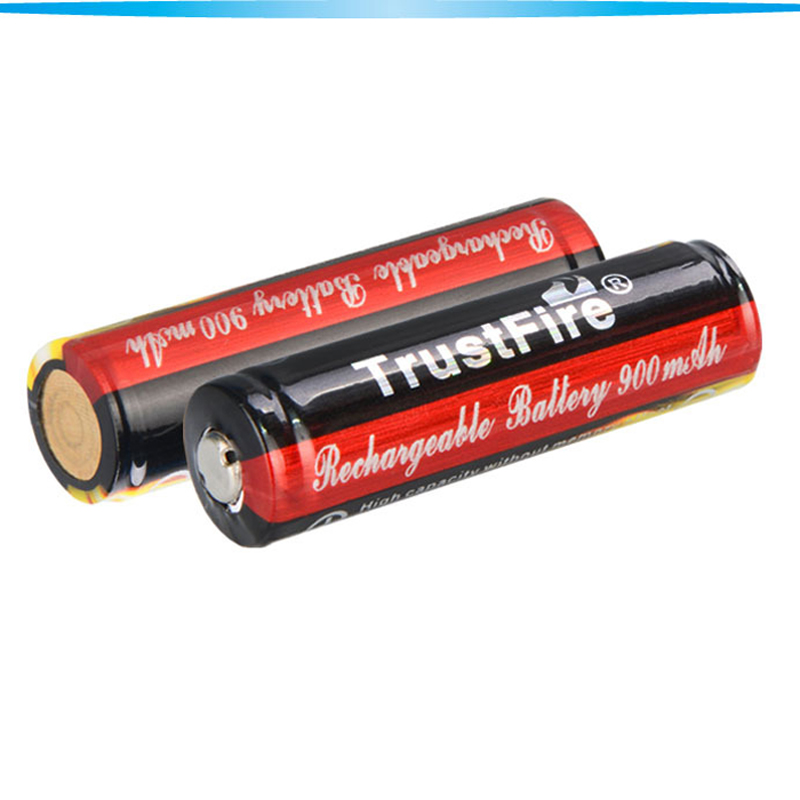 2pcs TrustFire protected 3.7V 900mAh 14500 Li-ion Rechargeable Lithium Battery AA Battria for flashlights headlamp