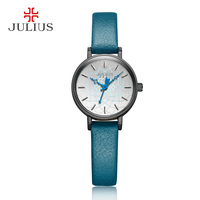 Julius Women's Wrist Watch With Leather Strap Elctronic Relojes for Girls Woche Women Dress Retro Vintage Clock JA 995