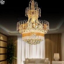 Классическая элегантная гостиная ресторан спальня лампа кристалл лампы из кованого железа лампы тела Люстры высококачественный свет