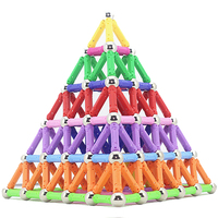 200pcs Magnetic Sticks & Metal Balls Magnets Building Blocks Construction Toys Educational For Children DIY Designer Kids Toy