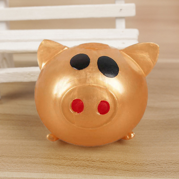 Jelly pig cute decompression ball sticky anti-stress TPR vent toy pig collagen jelly cream