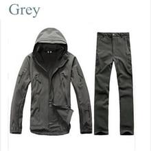 Tactical Gear Softshell Grey Military Jacket Men Army Waterproof Warm TAD Outdoor Waterproof Pants Jacket