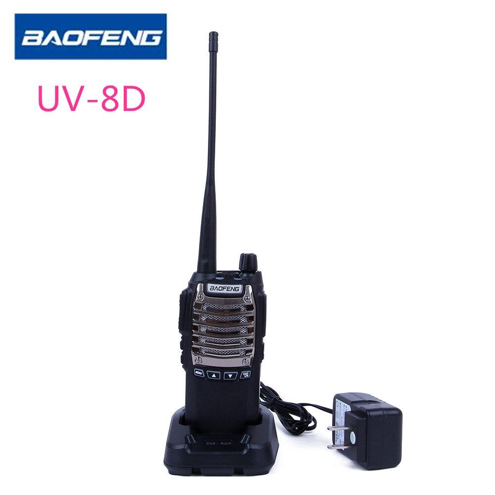 Baofeng uv-8d Двухканальные рации 8 Вт 128ch УВЧ DTMF VOX 1750 Гц Тон FM VOX a1032a 10 км 2800 мАч два способ Радио Портативный Радио