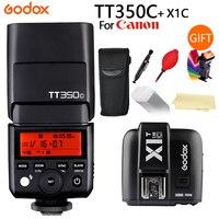 GODOX TT350 вспышка TT350 C + X1T C ttl HSS 2,4g Беспроводная 1/8000 s GN36 Вспышка Speedlite карманные фонари TT350C X1TC для Canon