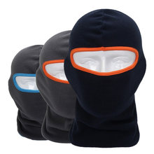 Winter Breathable Warm Fleece Thermal Windproof Balaclava Paintball Game Combat Sun Neck Full Face Mask Cap Helmets Hat(China)