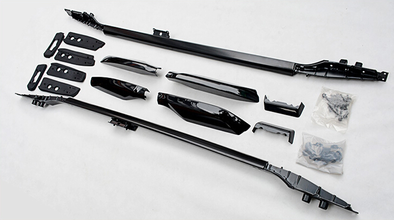 10-16 For Toyota Land Cruiser Prado FJ150 2010 2011 2012 2013 2014 2015 2016 Black Top Roof Rack Luggage Rails Bars Carrier Bar partol car roof top cross bars roof rack cross bars rail carrier 150lbs aircraft aluminum for mazda cx 7 2007 2008 2009 2010 12