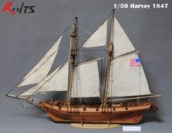 RealTS 1/50 klassischen holz segelschiff Harvey 1847 holz kit modell