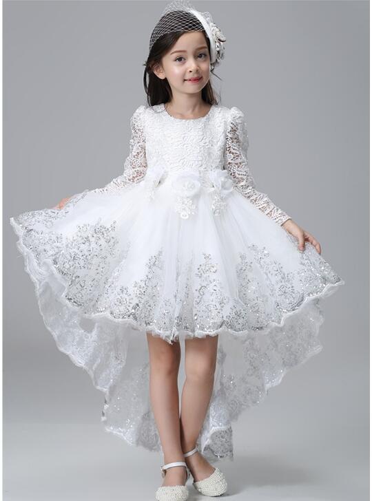 girls party dresses elegant sequin autumn long sleeve