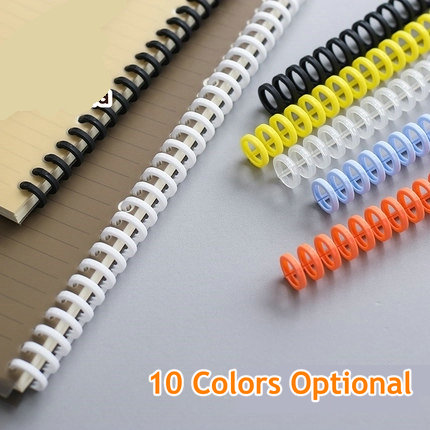 6pcs/Lot Loose Leaf Binder Clips Para Papel A4 B5 Paper Clips 30 Rings Plastic Spiral Binders A5 A7 Free Cutting Paperclips