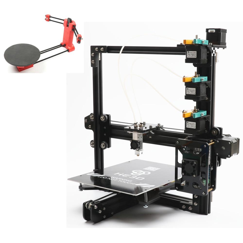 Conjunto de venda, mais novo kit diy impressora tricolor 3D EI3 HE3D 3 em 1 fora a adição de impressão aberto sourse 3D scanner kit DIY