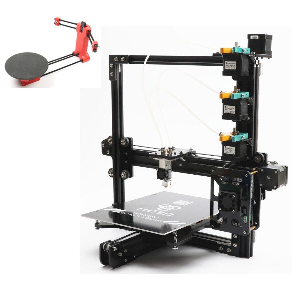 Ensemble vente, date HE3D EI3 tricolore 3D imprimante diy kit 3 dans 1 out impression ajoutant ouvert sourse 3D scanner DIY kit