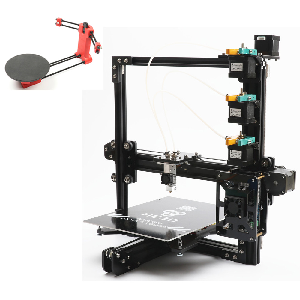 Set di vendita, più nuovo HE3D EI3 tricolore 3D stampante kit fai da te 3 in 1 fuori stampa l'aggiunta di open sourse 3D scanner kit FAI DA TE