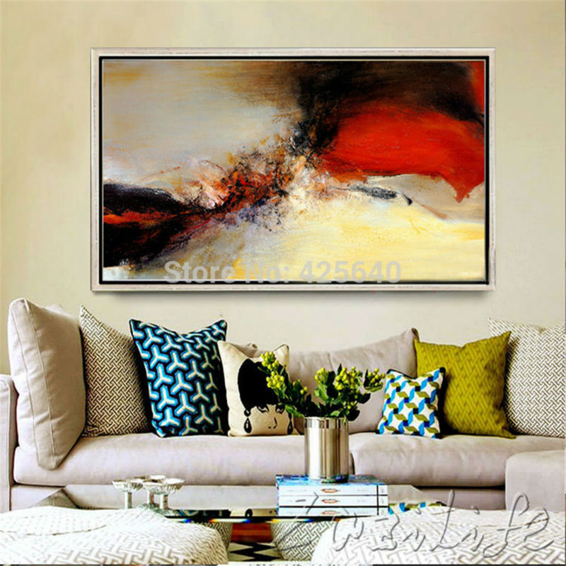 Pintado a mano lienzo pinturas al óleo abstracta moderna grande ...