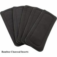 5pcs Lot Reusable Bamboo Charcoal Insert Baby Diaper Mat Nappy Newborn Cloth Diapers Cover Changing Liners