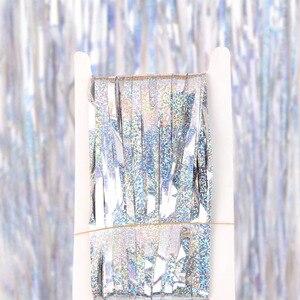 Image 4 - Девичник, вечерние занавески, блестящая золотая мишень с бахромой, занавеска из фольги, украшение на день рождения, свадьбу, юбилей для взрослых