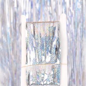 Image 4 - Bachelorette Party Achtergrond Gordijnen Glitter Gold Klatergoud Fringe Folie Gordijn Verjaardag Bruiloft Decoratie Volwassen Anniversary Decor