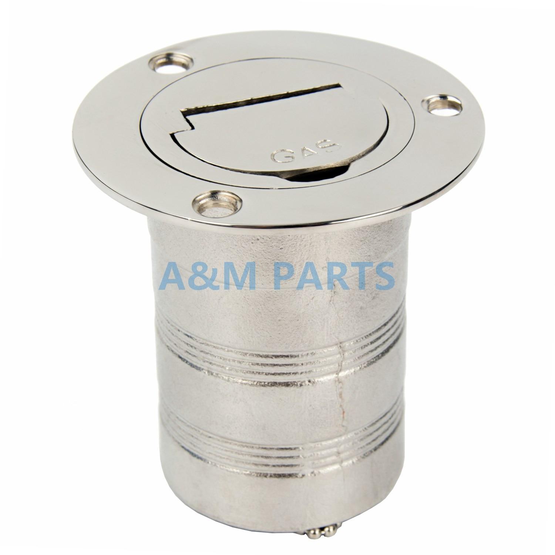 цена Marine Keyless Boat Fuel Gas Deck Fill / Filler Stainless Steel 316 - 2
