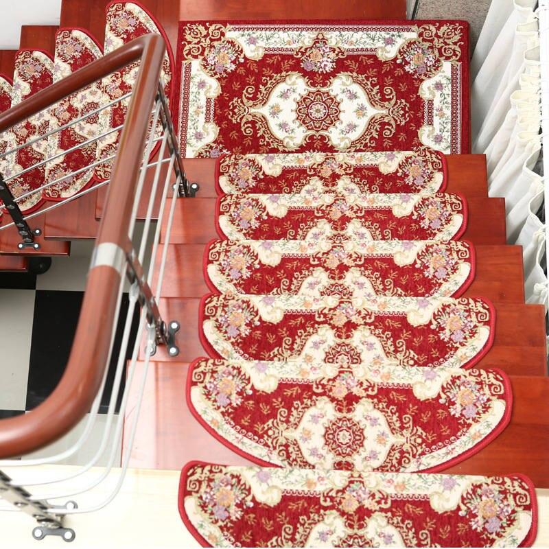 13 sztuk schody dywan zestawy antypoślizgowe maty na stopnie do schodów dywaniki do schodów krok 24X74cm pasuje do 25cm szerokość schody w Dywany od Dom i ogród na  Grupa 2