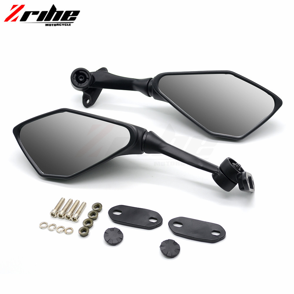 for 1Pair Universal Motorcycle CNC Aluminium Backup Rearview Mirrors accessories mirror For KAWASAKI NINJA ZX-6R 03-04 ZX 6 R ZX