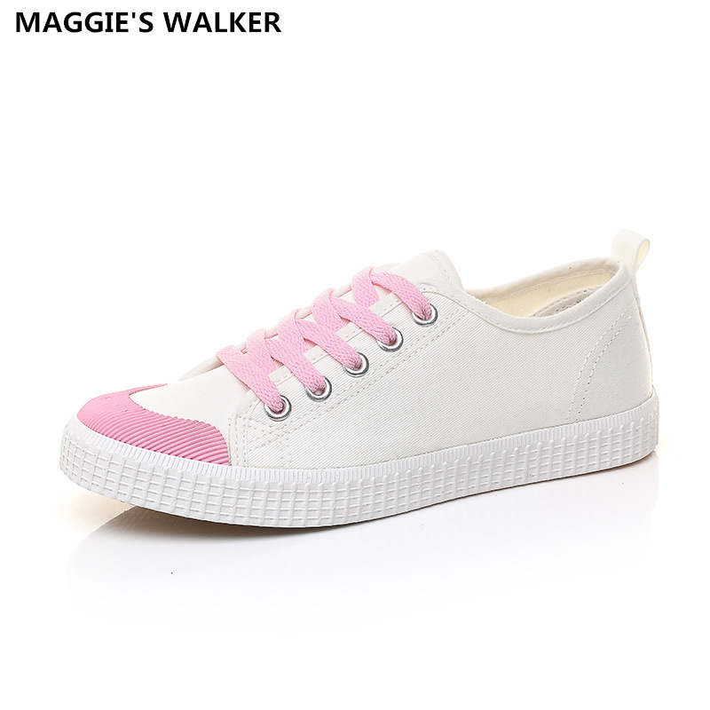 Maggie's Walker Women Casual  Canvas Shoes Hot-selling Fashion Breathable Lacing Shoes Candy-colored Casual Flats  Size35~40 free shipping candy color women garden shoes breathable women beach shoes hsa21