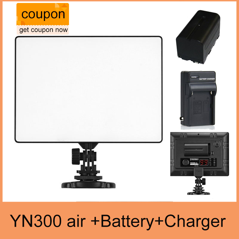 YONGNUO YN300 air YN-300 air yn 300 AIR Pro LED Camera Video Light For Canon Nikon + NP-F550 BATTERY + Charger