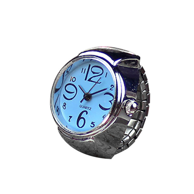 cheap Dial Quartz Analog Watch Creative Steel Cool Elastic Quartz Finger Ring Wa