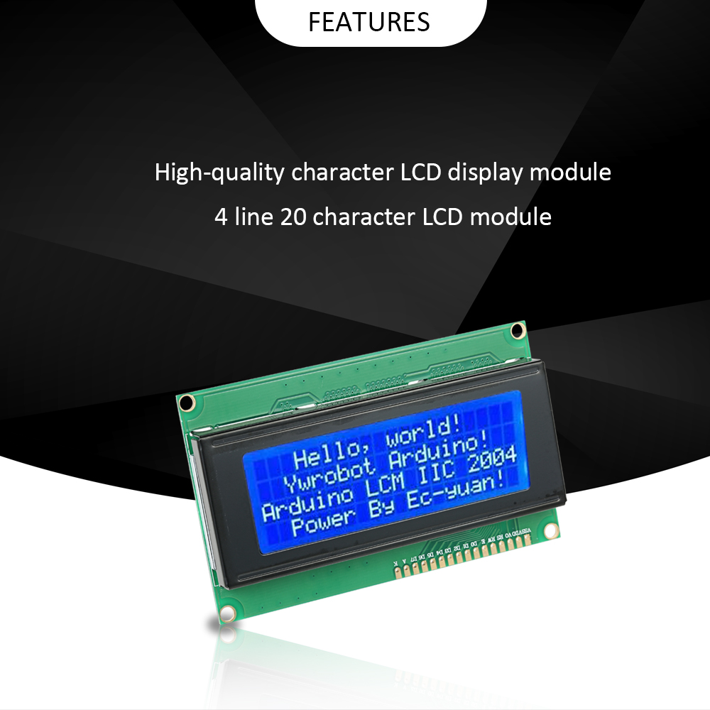 LCD2004 LCD display module with 4 Lines * 20 Character LCD Display Module with Blue Backlight for Arduino