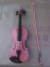 High quality PINK color violin 1/4 violin handcraft violino Musical Instruments