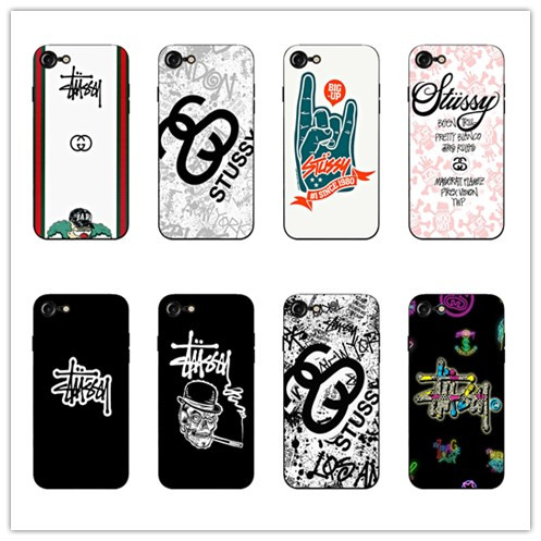 newest 1f305 39aaa Stussy Tide card Black super soft silica gel cell phone shell for iphone 5  5s se