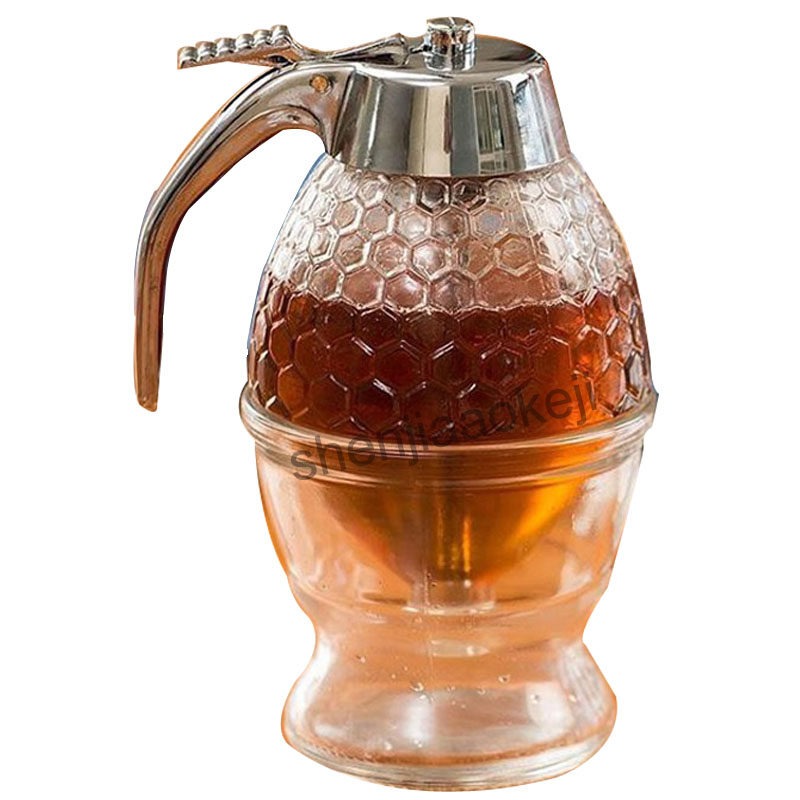1PC 200ML Household Honey Dispenser Container Cup Juice Syrup Kettle Kitchen Bee Drip Stand Holder Portable Storage Pot 6 frames reversible honey extractor for bee keeping
