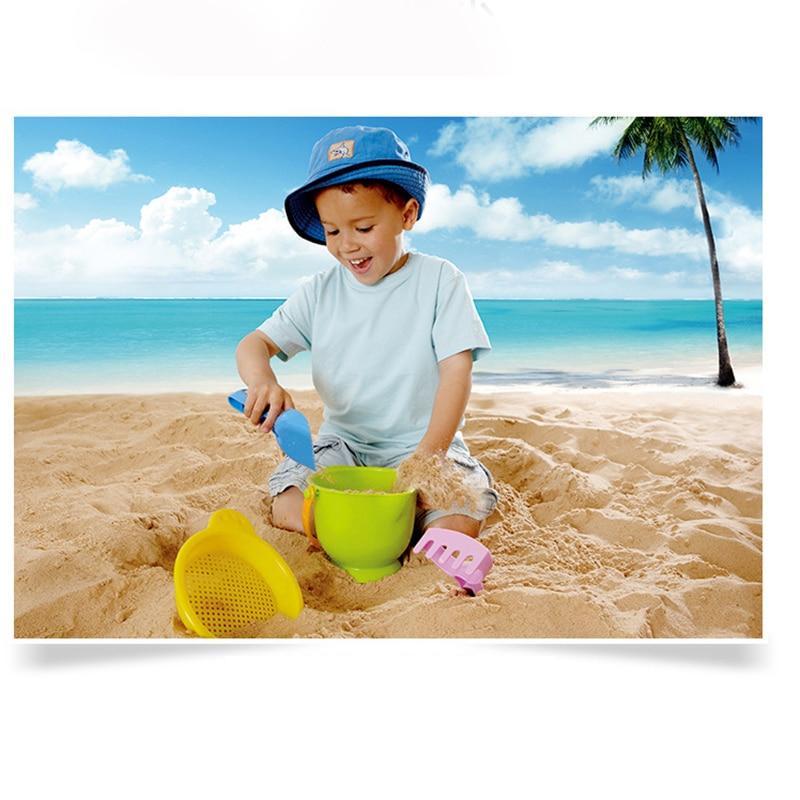11 stks/set Zand Water Strand Spelen Speelgoed Set Kids Kinderen Seaside Emmer Schop Hark Kit Building Zee Paard Mallen Grappig gereedschap 1