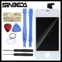 Sinbeda ЖК-дисплей Экран Замена для iPhone 4 4 г 4S ЖК-дисплей Дисплей + Сенсорный экран планшета + Рамка + клей черный или белый ЖК-дисплей