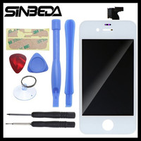 Sinbeda LCD Screen Replacement For iPhone 4 4G 4s LCD Display + Touch Screen digitizer + Frame+Free adhesive Black or White LCD
