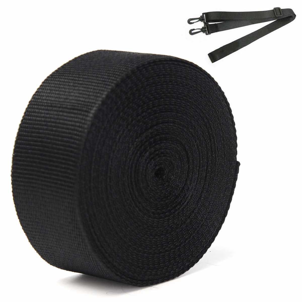 10 متر 50 مللي متر شريطة بوليستر قماش أسود حزام حزام الشريط لحقيبة الربط حزام صنع الخياطة Craft بها بنفسك الحرفية للمنزل