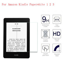 цена на 9H Screen Protector For Amazon Kindle Paperwhite Tempered Glass for All Kindle Paperwhite 1 2 3 2015 2016 Protective Film 6 Inch