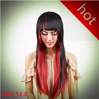 red black wig