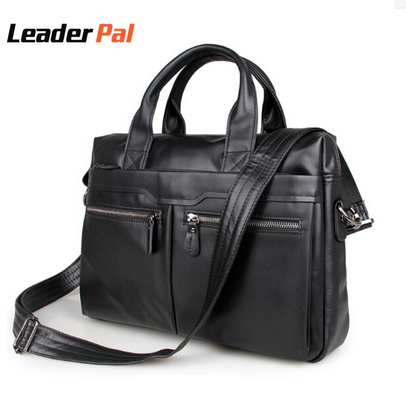 Genuine Leather Bag Business Men bags Laptop Tote Briefcases Crossbody bags Shoulder Handbag Big Capacity Men's Messenger Bag