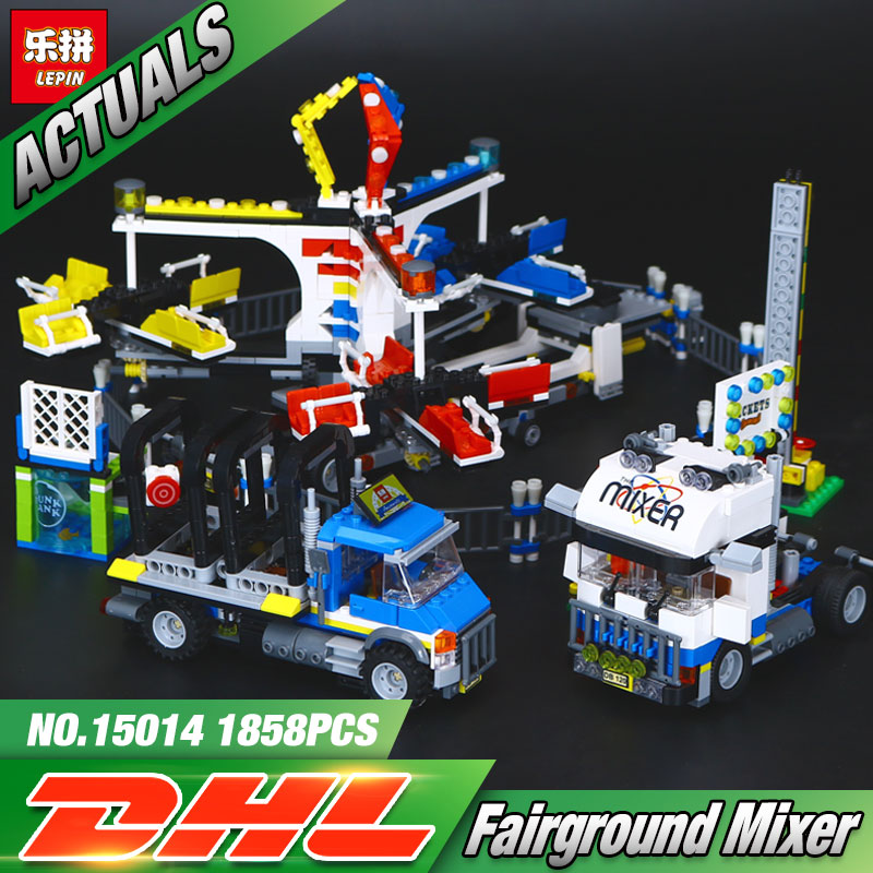Lepin 15014 Street Series The Amusement Park Giant Stride Carnival Set 10244 Educational Building Blocks Bricks Toy Gift the unhappy giant level 3
