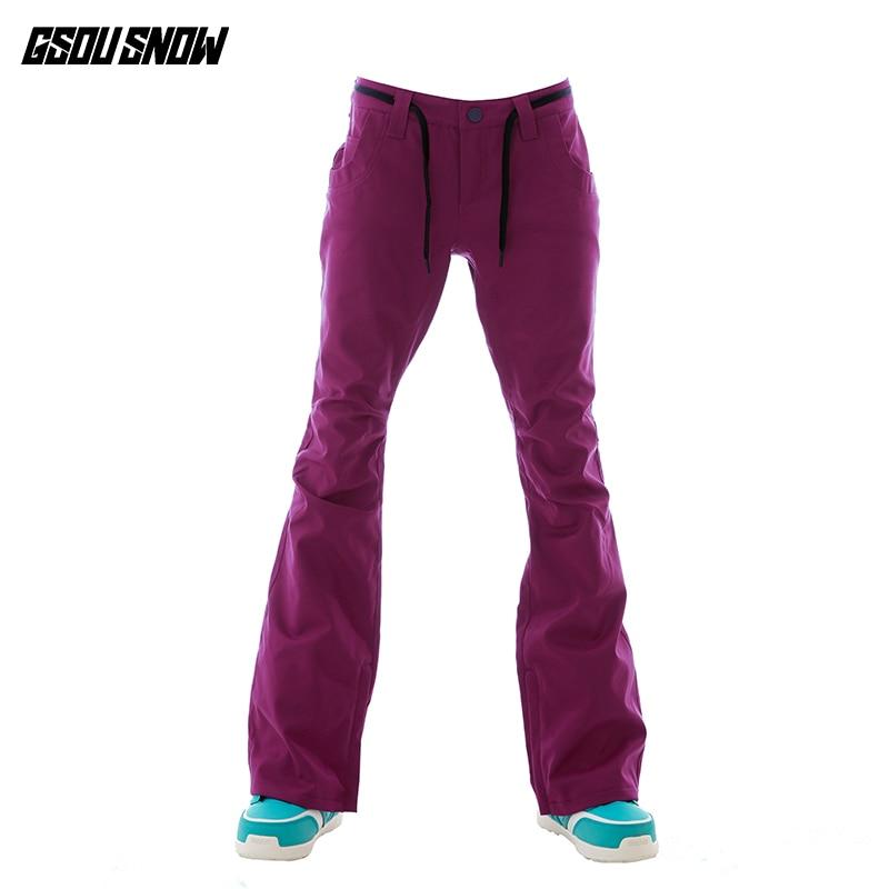 GSOU SNOW Brand Ski Pants Women Snowboard Pants Winter Skiing Snowboarding Pants High Quality Female Outdoor Sport Snow Trousers