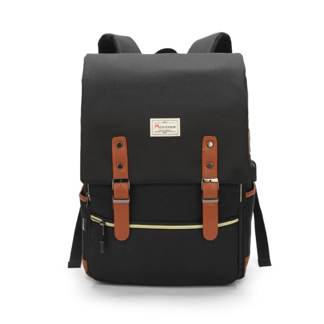 9a632814dce Modoker Vintage Laptop Backpack for Women Men School College Backpack with  USB Charging Port Fashion Backpack
