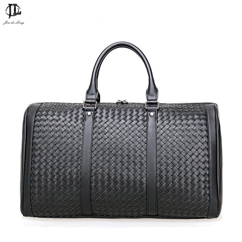 Brand Prius Genuine Leather Travel Bag Men Duffel Bag Luggage Travel Weave Bag Large Men Leather Duffle Bag Tote Big