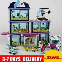 Lepin 01039 Genuine The Heartlake Hospital Set DIY Girl Series 41318 Building Blocks Self Locking Bricks
