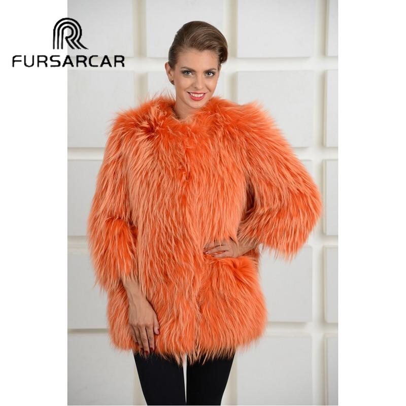 Veste Laveur Pleine Hiver Fourrure Femelle Véritable Naturel De Luxe Manteaux Style Manteau Nouvelles Pelt Fursarcar Femmes Raton x7qnwdvC00
