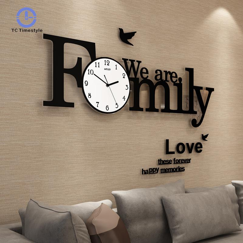 Big Wall Clock Modern Design Large Wall Clocks For Living ...