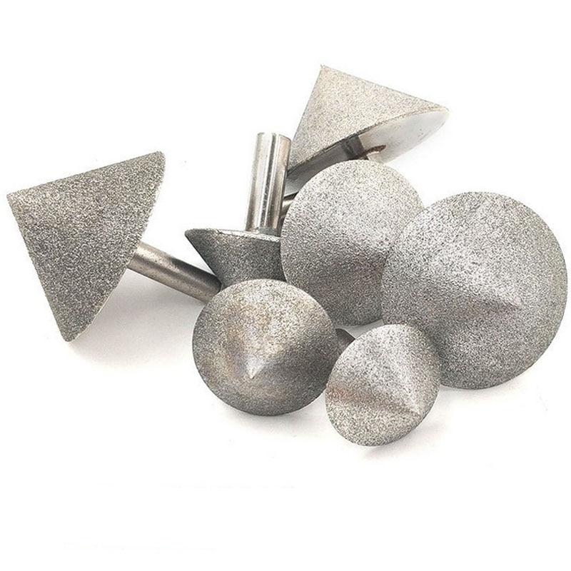 Cabeça de moedura 20-60mm do chanfro da perfuração do chanfro do vidro da pedra da cabeça de moedura do chanfro do cone do diamante 90 dregree